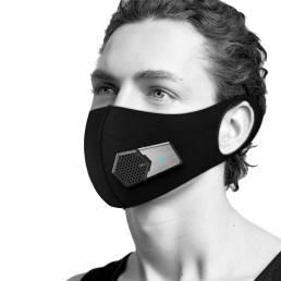 BIKIGHT Cara de fuente de aire fresco eléctrico inteligente Mascara 4.5CMF 27DBA 3 modos 5 capas Antipolvo Prevención de