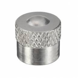 Aluminio cromado universal Coche Tapa del neumático de la rueda de aire Tapa de la válvula del neumático del borde