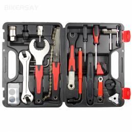 32Pcs / Caja Kit de reparación de bicicletas Set Super Equipment Toolbox Reparación de herramientas Mountain Bike Equipm