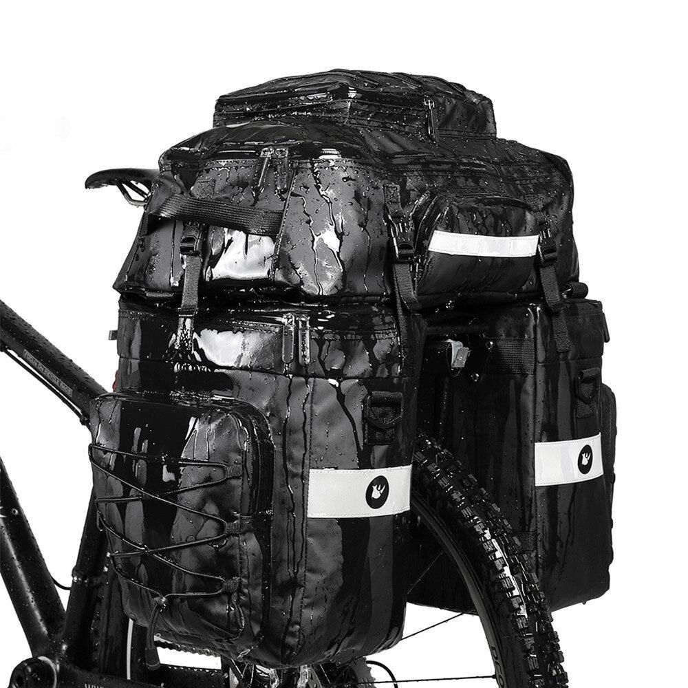 Baúl de bicicleta 3 en 1 Rhinowalk Bolsa Bicicleta de carretera de montaña Asiento trasero de rejilla trasera de doble l