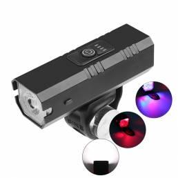 XANES® Z-02B T6 Faro de bicicleta USB recargable Impermeable 1200mAh 3 modos MTB Delantero Lámpara Linterna ultraligera