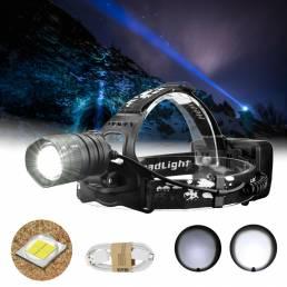 XANES XHP50 800LM LED Linterna frontal USB recargable Antorcha con zoom Lámpara Linterna para ciclismo cámping pesca