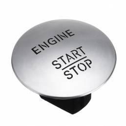 Sin llave Una tecla Motor Botón de encendido y apagado Botón de encendido Interruptor de encendido Plata / Rojo para Mer