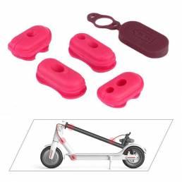 BIKIGHT 4 Uds tapa de puerto de carga de goma tapón de goma para M365/Pro piezas de accesorios de scooter eléctrico