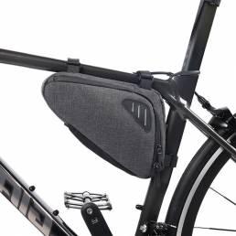 Sillín Bolsa Marco delantero de bicicleta Bolsa Con banda reflectante Bicicleta de montaña Impermeable Tubo Bolsa Para a