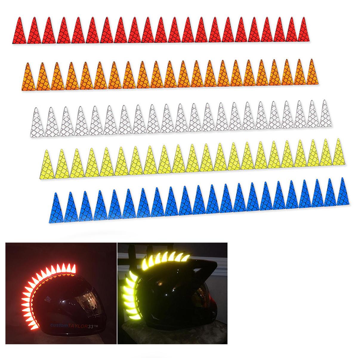 22 Cuchillas Mohawk Warhawk Spikes vio calcomanías adhesivas reflectantes para casco de goma Moto bicicleta
