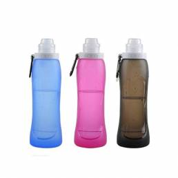 500ml plegable de silicona botella de agua portátil plegable hervidor de agua para el ciclismo deportes al aire libre