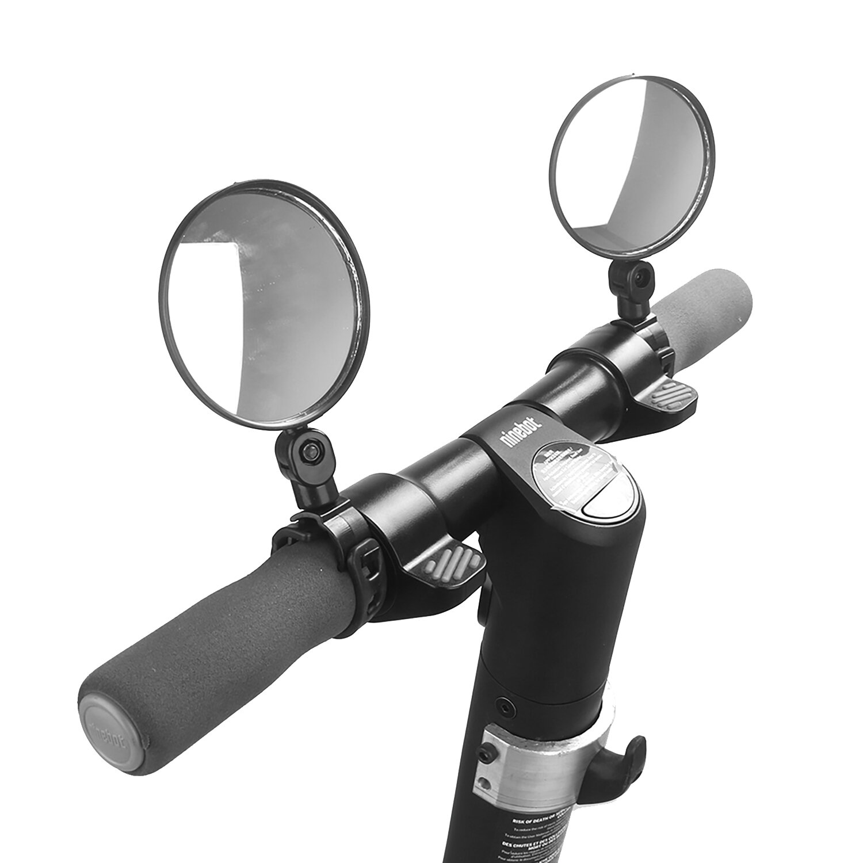 BIKIGHT 1 par de espejo retrovisor giratorio de 360 ° para XIAOMI M365 Ninebot piezas de reflector de puerta trasera de