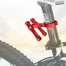 BIKIGHT Soporte doble de aluminio para botellas de agua Soporte ajustable para portavasos de bicicleta cámping Ciclismo