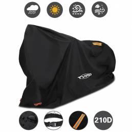 TVIRD 96.5x41x50inch Funda para bicicleta Impermeable Anti Polvo UV A prueba de viento Moto Protección para scooter con
