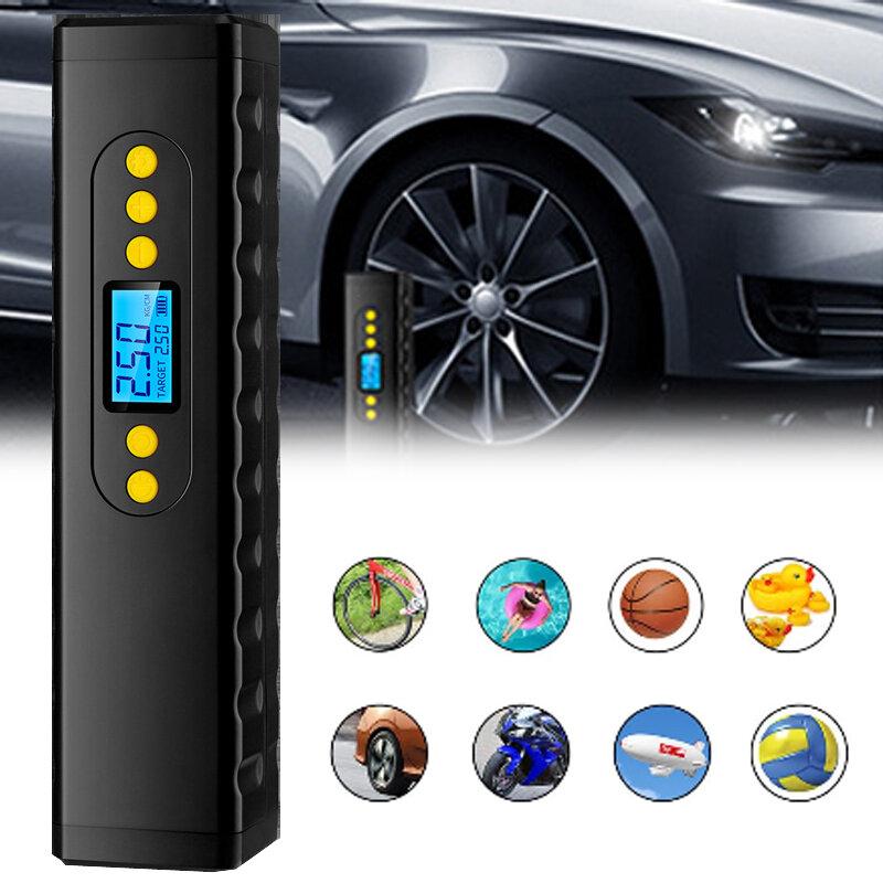 BIKIGHT 12V 150PSI Bomba de aire eléctrica inteligente Presión de neumáticos Pantalla Mini inflador de neumáticos inalám