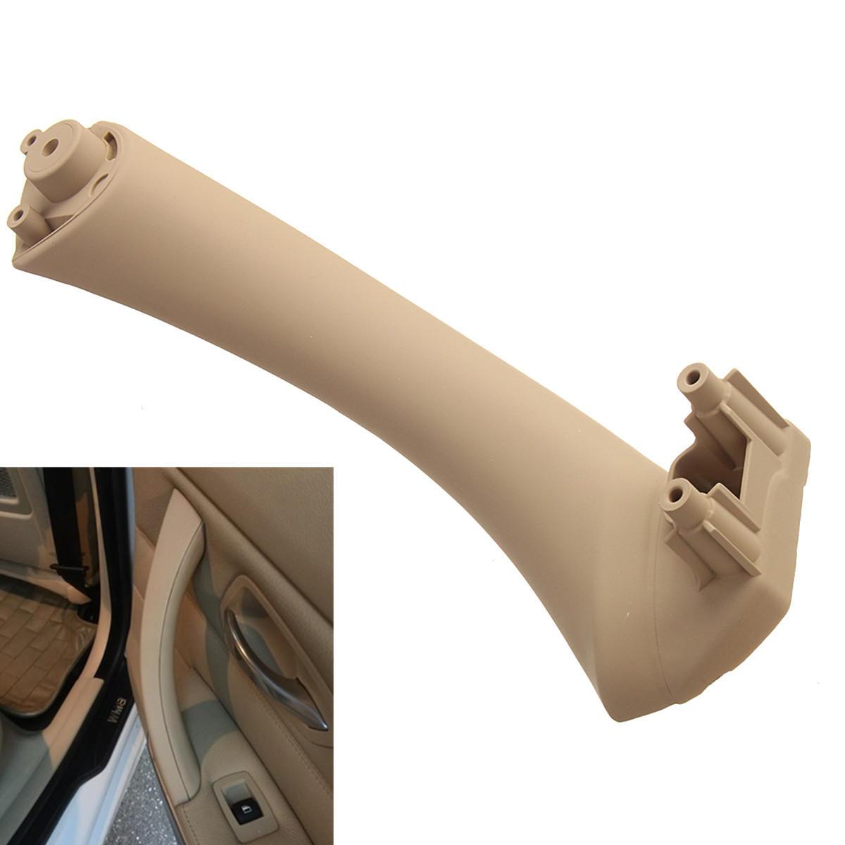 Manijas interiores de la puerta beige Ajuste de la cubierta delantera trasera derecha para BMW E90 3 Series Sedan Wagon
