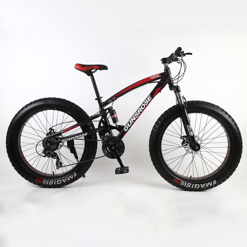 KAIMARTE 26 pulgadas neumático gordo bicicleta de montaña rueda de radios bicicleta de montaña bicicleta de doble amorti
