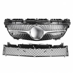 Diamante estilo frontal superior parrilla inferior malla para Benz R172 SLK200 SLK300