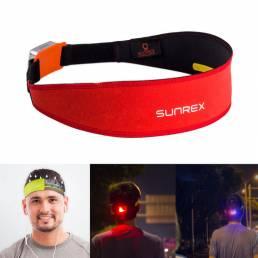 SUNREISUNREXDiademaalairelibre Running Cinturón Aptitud Yoga Antitranspirante Banda con luz de advertencia