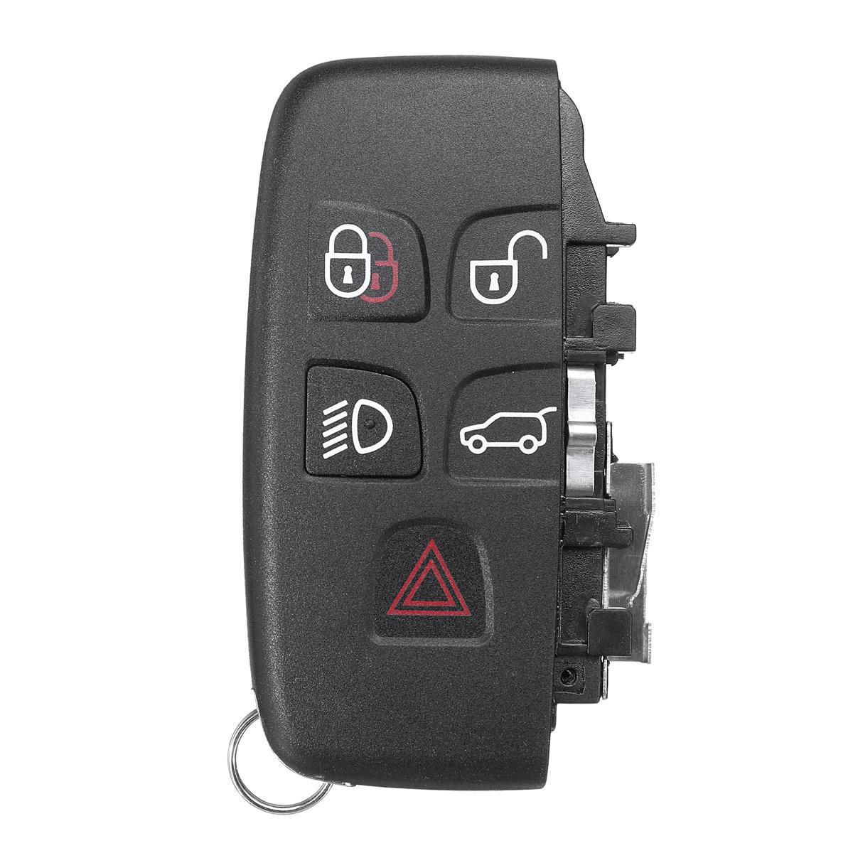 5 botones Control remoto llavero Caso Smart Key Shell para LAND ROVER LR4 Range Rover Sport Evoque