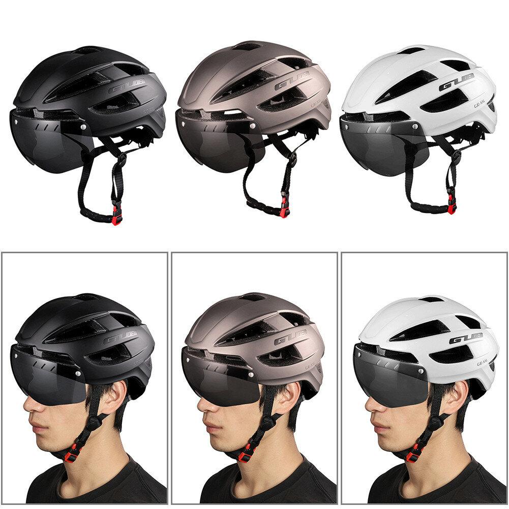 Casco de bicicleta GUB CJD 65cm Gafas de bicicleta 9 modos Luz trasera Casco transpirable al aire libre Ciclismo de segu