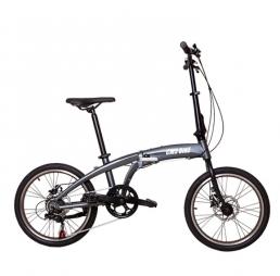 CMSBIKE CMSBS-20 20 Inch Mini bicicleta plegable Desviador de 6 velocidades Freno de disco doble Suspensión Bicicleta de