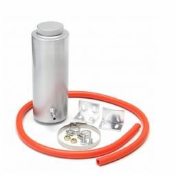 Depósitodedesbordamientoderadiadorde cilindro de plata de 800 ml. Depósito de refrigeración de aluminio.
