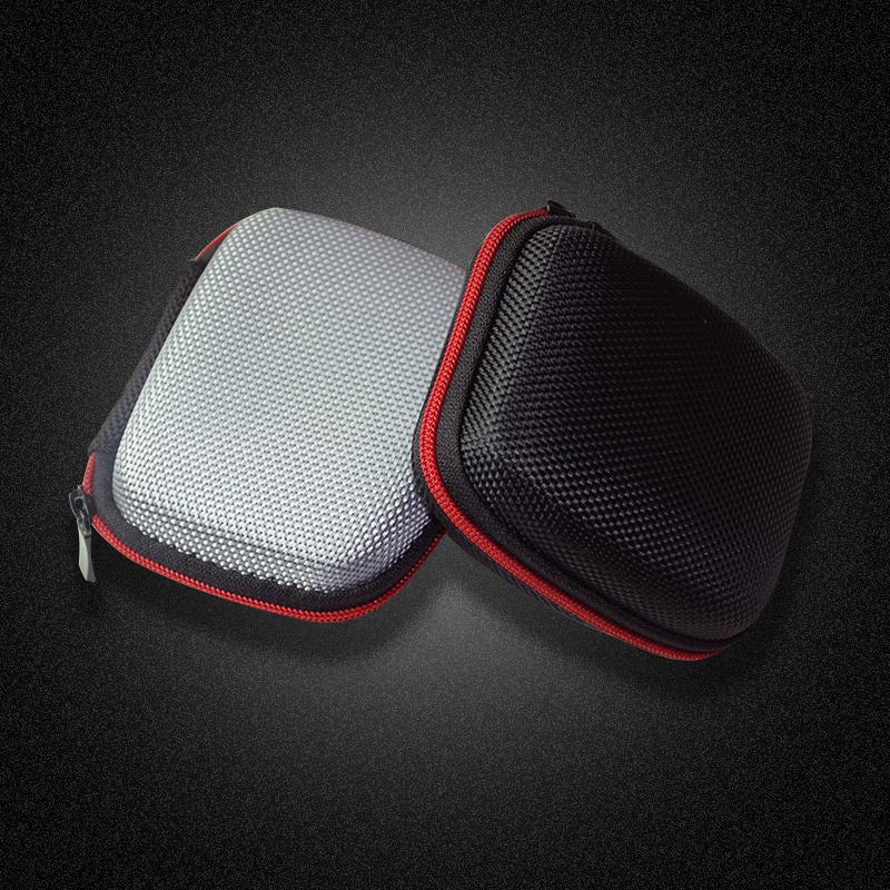 Mini Square EVA portátil Auricular Almacenamiento Bolsa Cubierta protectora Caso para cable de datos Tarjeta SD