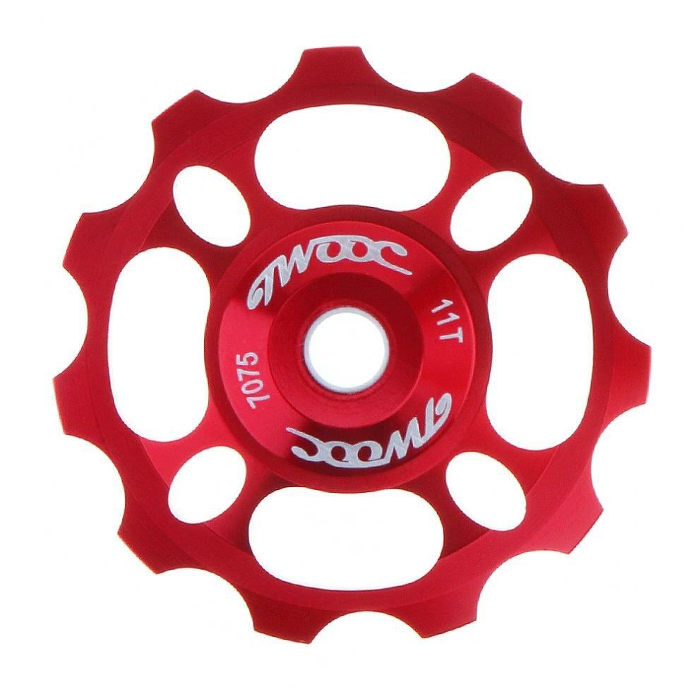 TWOOC 11T 8 agujeros bicicleta desviador trasero polea guía rueda bicicleta rodamiento de acero para bicicleta MTB al ai