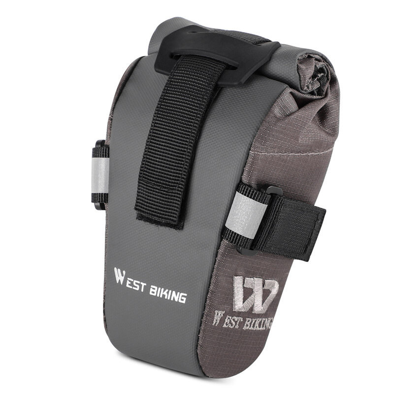Alforja de bicicleta WEST BIKING Bolsa MTB Road plegable bicicleta trasera bolsa de asiento trasero soporte para teléfon