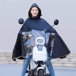 [Desde] HIMO Poncho de lluvia para ciclismo Bicicleta eléctrica Impermeable de autoalmacenamiento portátil Impermeable S