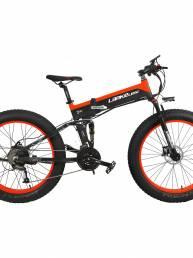 LANKELEISI XT750PLUS 14.5Ah 48V 500W 26 pulgadas ciclomotor bicicleta eléctrica bicicleta plegable 100Km kilometraje car
