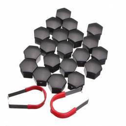 20 piezas Universal 19 mm Coche Tapas de tuercas de perno de rueda Cubierta ABS Plástico con extracción de 2 piezas herr