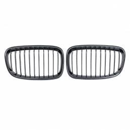 Par de rejilla frontal de fibra de carbono ABS para BMW F20 F21 2011-2014