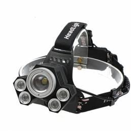XANES 2408 1600LM Faro de Bicicleta 4 Modos de Conmutación T6 + 4XPE Mecánica Zoom Lámpara de luz Blanca