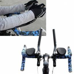 Bicicleta de montaña bicicleta de carretera aleación tt separados pvc mango resto barra de relajación vice manillar