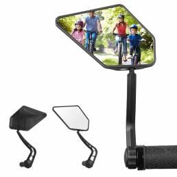 WEST BIKING 1 par de espejo retrovisor de bicicleta HD gran angular 360 grados giratorio ciclismo MTB carretera manillar