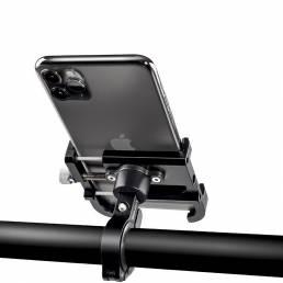 WHEEL UP Soporte de bicicleta de aleación de aluminio 55-100mm Soporte de teléfono para manillar de bicicleta Soporte pa