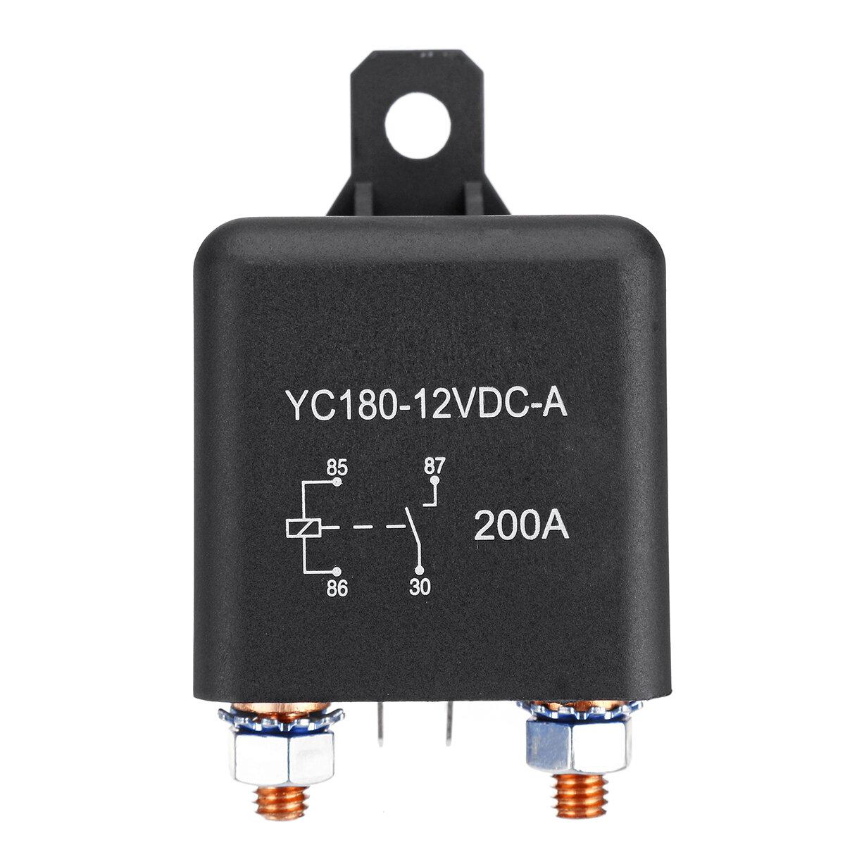 Interruptor de relé de encendido / apagado de 12V 200A Terminales de 4 pines de carga dividida de servicio pesado para f