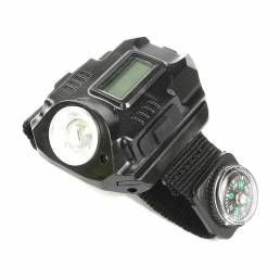 XANES3en1alaire libre Multifuncional LED Reloj de pulsera Linterna Brújula Láser Luz Cicli