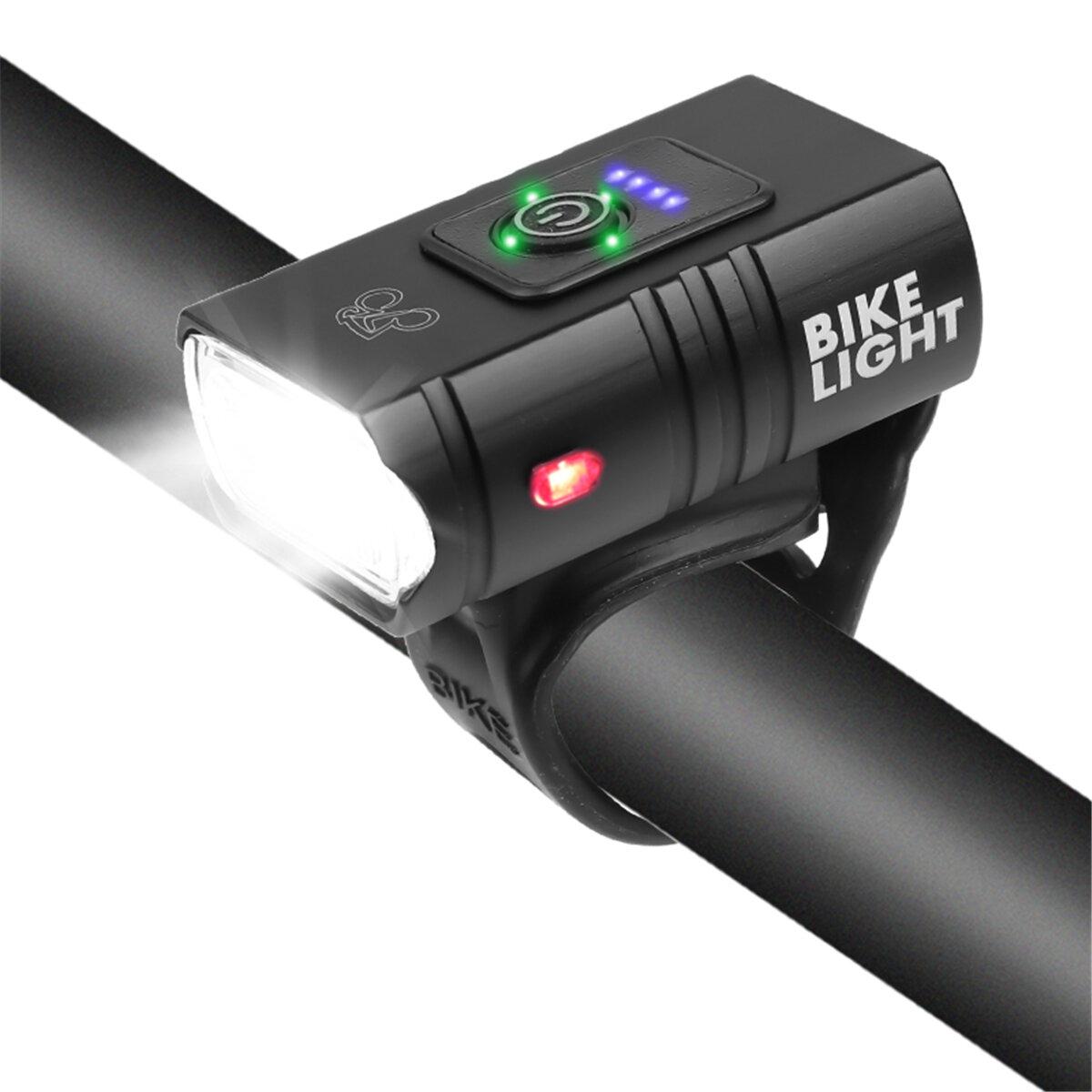 2xT6 LED 800Lm Faro de bicicleta 1000mAh Super brillante 6 modos Ajustable USB Recargable Delantero de bicicleta Lámpara