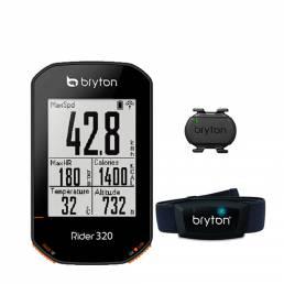 Bryton 320T Inteligente GPS Juego de computadora para bicicleta Retroiluminación automática Inalámbrico GNSS / ANT + blu