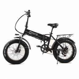 R6 LG Batería 48V 12.8Ah 350W 20 * 4.0 pulgadas Bicicleta de ciclomotor eléctrica plegable 45 km / h Velocidad máxima 90